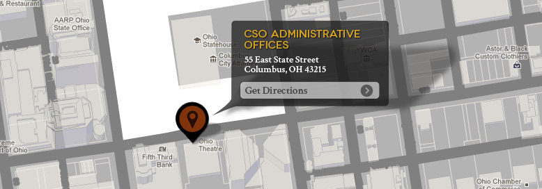 CSO Administrative Offices: 39 E. State Street Columbus, Ohio 43215